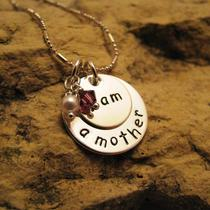 I Am a Mother - All Silver Charm With Swarovski Birthstone Crystals Photo