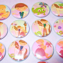 Iridescent Rapunzel Inspired 1&ampquot Pinback Buttons-Set of 24 Photo