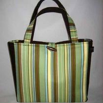 Jeanniebags Amy Butler Ginger Bliss Fabric Stem Green Bermuda Stripe Tote Diaper Bag Photo
