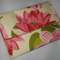 Jeanniebags Ginger Blossom Fabric Wallet Coin Case Business Card Case Photo