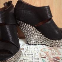 Jeffrey Campbell Studded Peeptoe Wedges Size 9 Photo