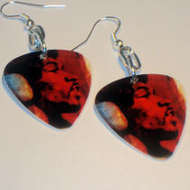 Jimi Hendrix Guitar Pick Earrings Photo