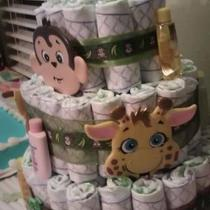Jungle Diaper Cake Photo