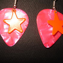 Kitschy Guitar Pick Earrings Photo
