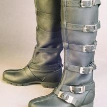 Knee High Buckle Boot Steam Punk Photo
