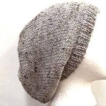 Knit Beanie Gray Marble Flecks Slouch Photo