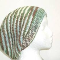 Knit Hat - Beanie - Slouch Hat - Multicolor Photo
