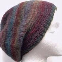 Knitted Beanie Multicolor Wool Acrylic Beret Hat Photo
