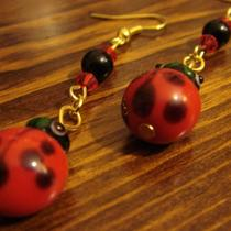 Kokinne Ladybug Earrings Photo
