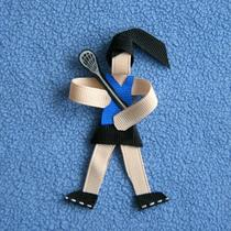 Lacrosse Hair Clip Player Ribbon Sculpture Sport Photo