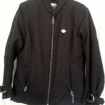 Ladies Black Harley Davidson Riding Jacket (Medium) Photo