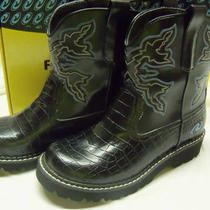Ladies Roper Chunk Boots Size 7 - Like New Photo