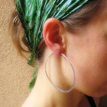Large Fine Silver Hoops Photo