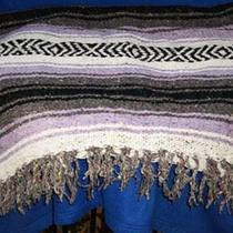 Large Mexican blanket, purple/black Photo