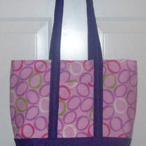 Large Purple Oval Tote/diaper Bag Photo