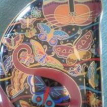 Laurel Burch Fluttering Felines Collector Plate Photo