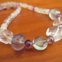 Lavender and Mints - Fluorite Gemstone Necklace Photo