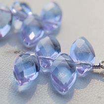 Lavender Glass Petal Earrings Photo