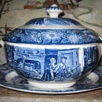 Liberty Blue Staffordshire Soup Tureen Photo