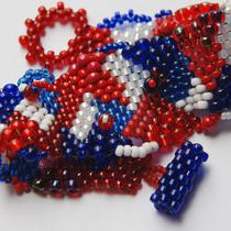 Liberty - Freeform Peyote Cuff Photo
