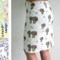 Lined Ladies Skirt - Size 8 - Lightship Baskets Hydrangea Dragonflies Photo