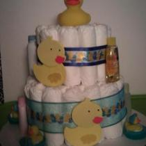 Little Ducky Diaper Cake Photo