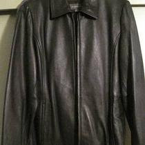 Liz Claiborne Ladies Black Leather Jacket Medium Never Worn  Photo