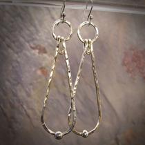 Long Sterling Silver Earrings Photo