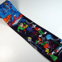 Looney Tunes Movie Set Neck Tie - New / Like New Photo