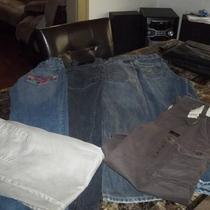 Lot of 6 Boys Name Brand Jeans in Great Condition Size 14 Photo