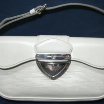 LOUIS VUITTON Ivory Epi Leather Montaigne Clutch Purse w/detachable strap Photo