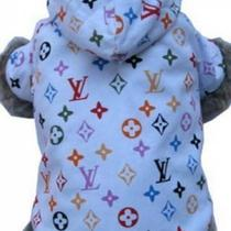 Louis Vuitton Monogram Dog Jacket Clothes Pet  Photo