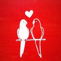 Lovebirds Art Photo