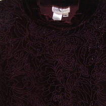 Lovely Coldwater Creek Maroon Velvet-Like Pant Set W/ Sparkle Med. Photo