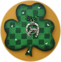 Lucky Horseshoe Irish Pin (Hand Painted Wood) Photo
