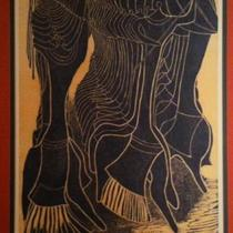 Lucky Sibiya Woodcut Print Photo