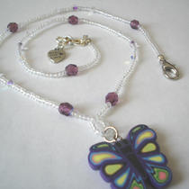 Magic Butterfly - Necklace - Swarovski Crystals Photo