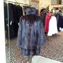 Mahogany Mink Coat  Photo