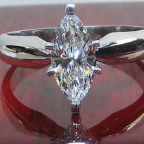 Marquise 1.20ct D/si3 Ring in Platinum Setting  Photo