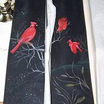 men&amp039s Neck Ties Hand Painted &amp034cardinal&amp034 Birds Very Rare Brooks Brother Photo