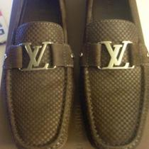 Mens LOUIS VUITTON LV Damier Monte Carlo Suede Loafers Shoes Brown 8.5 9.5 w/Box *AUTHENTIC* Photo