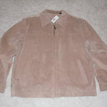 Mens Roundtree and Yorke Suede Jacket Lg New With Tags Photo