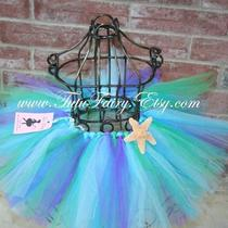 Mermaid Tutu Skirt......... Starfish Included.......... Newborn-5t......... Beautiful for Pictures..... Birthdays...... Parties...... Dress Up or Just Beacause Photo