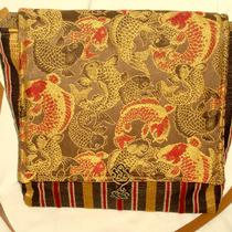 Messenger Koi and Stripe Purse Photo