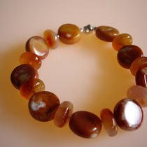 Mexican Fire Agate Bracelet Photo