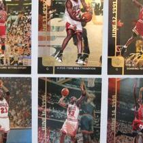 Michael Jordan Gatorade Set---6 Cards and lot of 43 from 1990's Chicago Bulls Photo