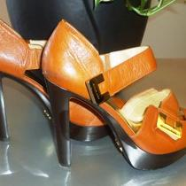 Michael Kors Brown Leather Sandals 8.5  Photo