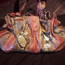 Michael Kors Coral Python Rehearsal Satchel / Purse / Bag Photo