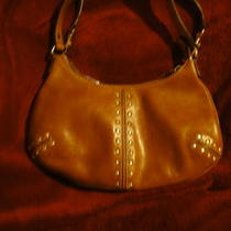 Michael Kors Handbag Gorgeous Brown Leather Studded Photo