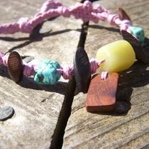 Miss Priss Pink Hemp Anklet or Armband Photo